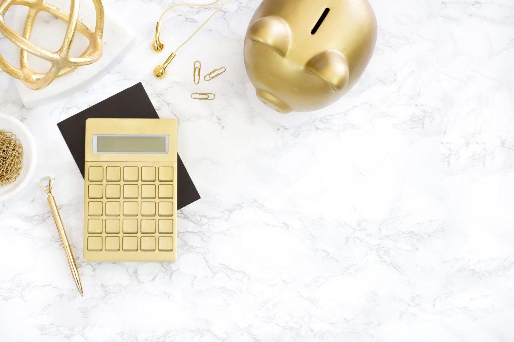 HMarble pink office dinero cochinito